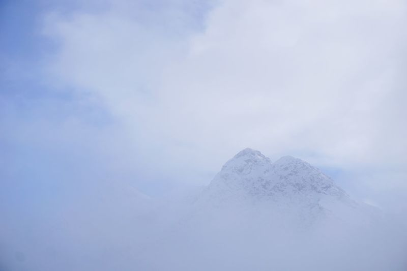 Mountain Range in fog Fog Foggy Landscape Snow Cold Temperature Cloud - Sky Winter Sky Beauty In Nature Tranquility No People White Color Frozen Snowcapped Mountain Nature Tranquil Scene Scenics - Nature Mountain Landscape Outdoors Environment My Best Photo