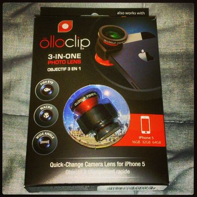 More #MWC13 gifts: OlloClip photo lens for iPhone 5. I'll try to adapt them to my Androids. Mwc13