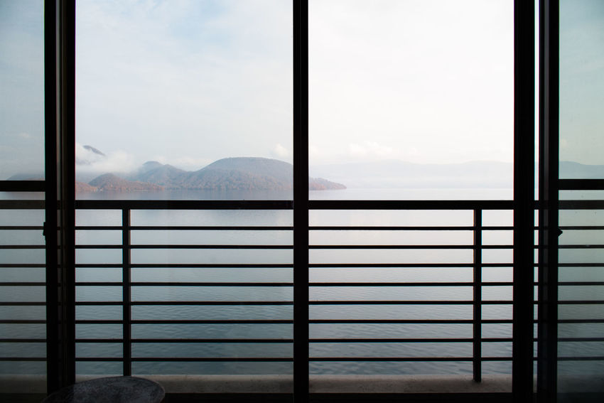 Morning Lake out of Balcony Copy Space Hotel Hotel Room Accommodation Travel Japan Hokkaido Lake View Room Lake Toya Japanese Style AirBnB Overnight Stay Trip Island Morning Sky Waterfront Tranquility Peaceful Freshness Air Balcony Out Of Window