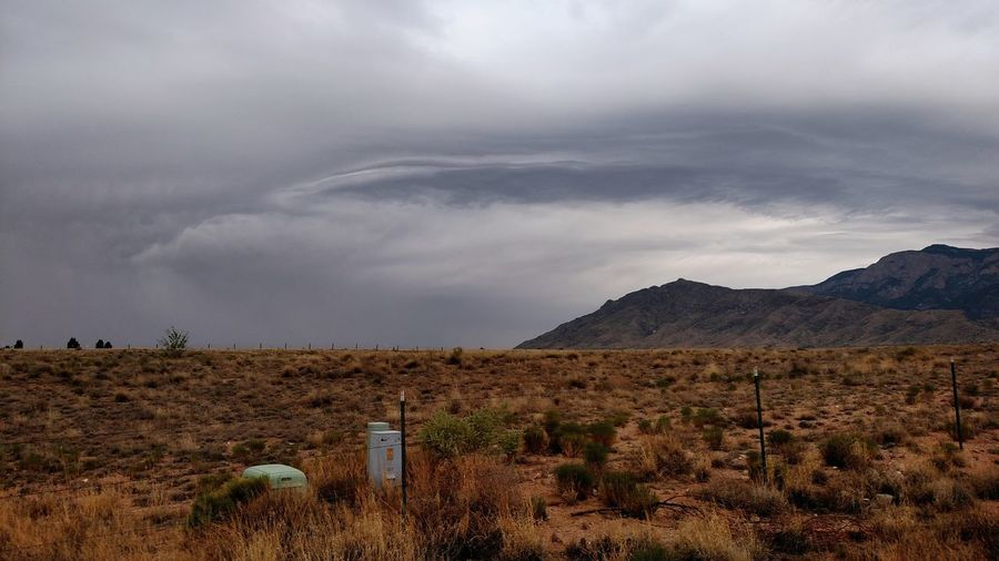 Mountains Cloudscape Clouds Sandia Mountains Gloomy Solemn Forlorn Longing