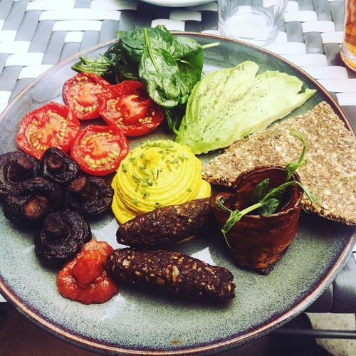 raw vegan full english breakfast Full English Breakfast Close-up Day Food Food And Drink Freshness Healthy Eating Indoors  Lettuce No People Plate Raw Vegan Ready-to-eat Vegan Full English Breakfast
