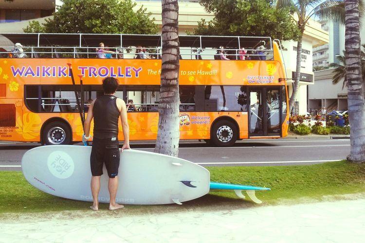 ハワイ ホノルル Waikiki サーファー