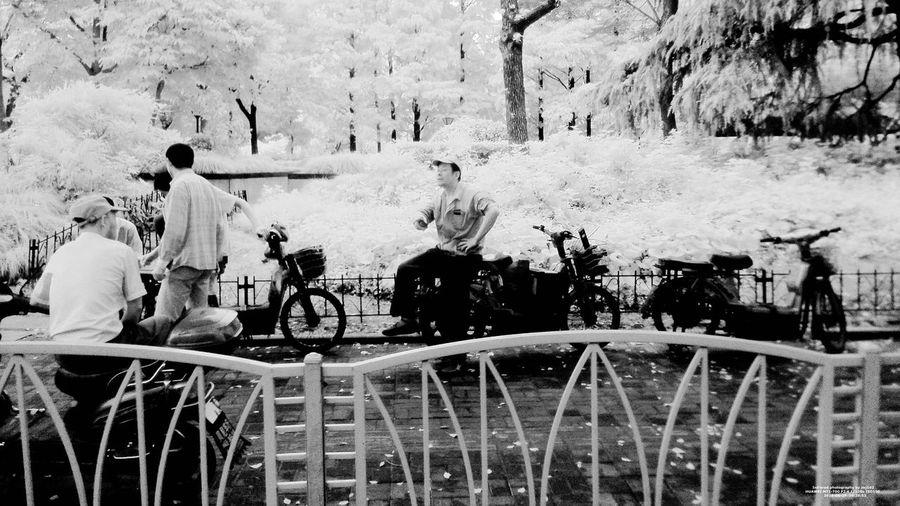 IR Looking Outside The Window Road Shanghai, China Art B&w Photography Bus Hongqiao Train Station Infrared Photo Infrared Photography Outside The Window. People Photography Phone Photography PhonePhotography Rain Window Steel Random Shots Randomshot