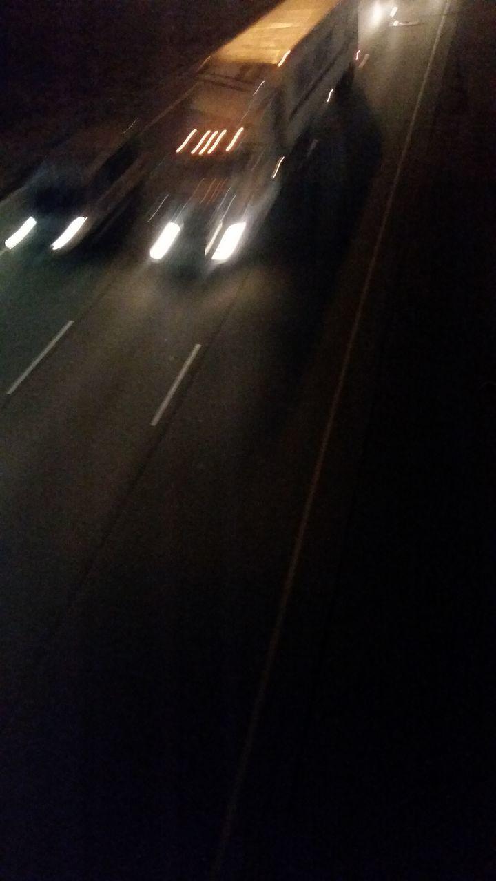 transportation, illuminated, night, road, dark, street, speed, car, blurred motion, dividing line, motion, no people, city, outdoors