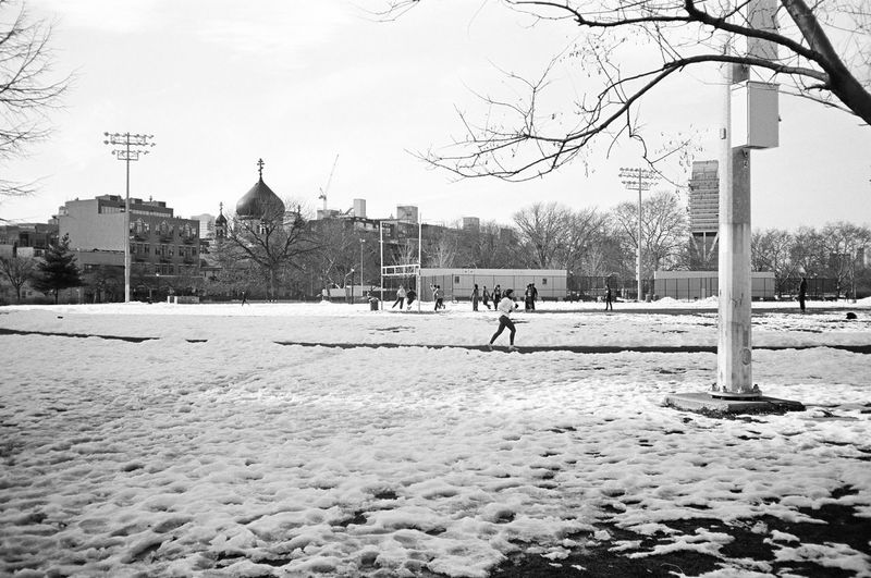 McCarren Park, Brooklyn, January 2016 Snow Winter Tranquil Scene Contaxt3 Contax Neopan Acros Neopan 35mm Film Film Photography Streetphoto_bw Streetphotography Street Photography Greenpoint Williamsburg, Brooklyn  Brooklyn NYC Park
