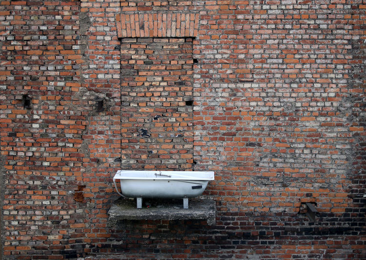 Architecture Balcony Bath Brick Wall Day Installation Installation Art Installation Work Installationart No People Outdoors Red