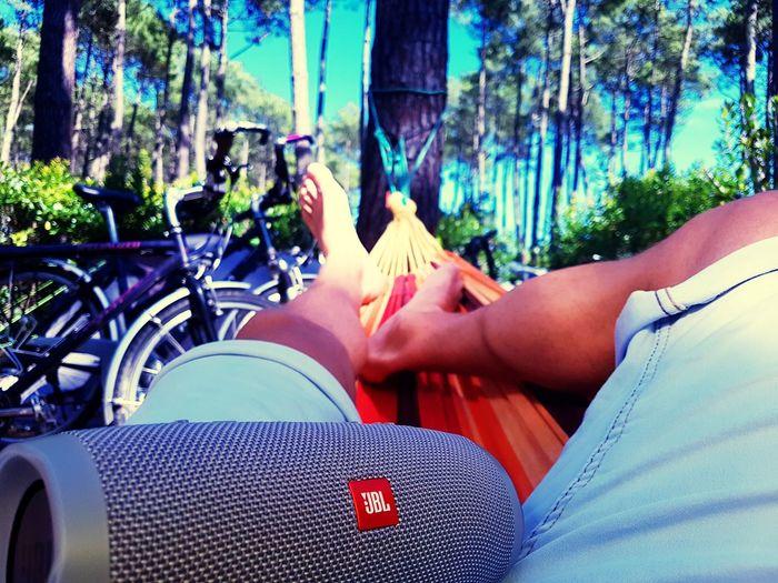 Summer arrived Relaxation Outdoors Bike Tour Tree Hängematte Hammock Summer Vibes Let's Go. Together.