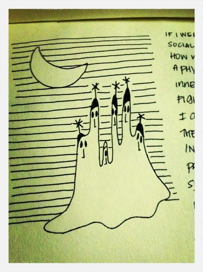 I Drew This During My Phase In College When I Was Obsessed With Tim Burton.