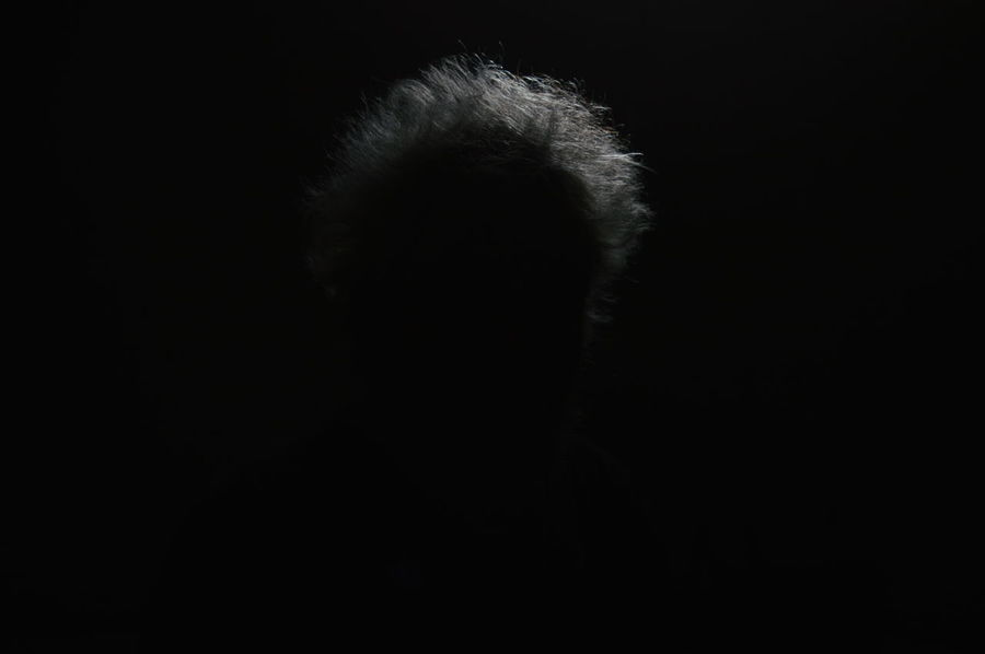 Black Background Studio Shot Unique Photography Different Points Of View Porttait Of A FriendWhite Hair Men Close-up Real People Live For The Story The Photojournalist - 2017 EyeEm Awards