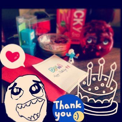 謝謝大家的禮物及留言 ㄞ大家 十七歲的第一天 表示離18還有364天 最終還是希望我的夢可以達成這樣 祝大家身體健康永遠美麗 官方 生日 312 happy birthday 誕生日