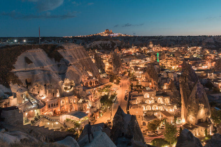 Hot Air Balloons in Cappadocia, view of Goreme Cappadocia Cappadocia/Turkey Nature Nature Photography Rock Formation Tranquility Adventure Cave House Caves City Cityscape High Angle View Holiday Destination Idyllic Landscape Mountain Outdoors Scenics Sky Travel Travel Destinations
