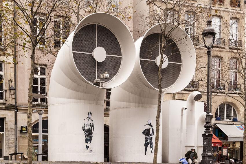 Air vents for the Pompidou Centre, Paris, France Air Vents Architecture Building Exterior Built Structure City Day Outdoors Paris Pompidou Center Pompidou Centre