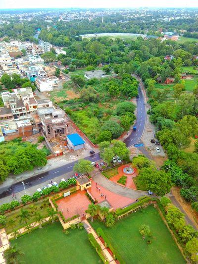 Flying High Road Jindal Tower Stadium Highview Treescape Bend at Hissar Haryana The Architect - 2017 EyeEm Awards