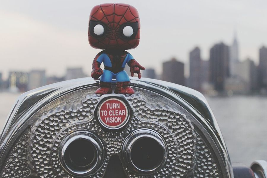 Web Slinging, Gantry Plaza State Park, Hunters Point, Queens Queens Funkopopvinyl Spider-man Marvel Comics