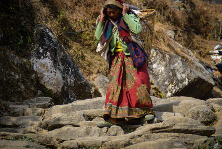 Traditional Clothing One Person Cultures Adult Adults Only Outdoors People Culture And Tradition Woman Who Inspired Me Pokhara, Nepal Travel Photography Nepal Travel Life In The Countryside Real Life People Photography Women Hard Labor One Woman Only Day Only Women Headwear Woman Carrying Heavy Load Woman Carrying Stones Women Around The World The Photojournalist - 2017 EyeEm Awards