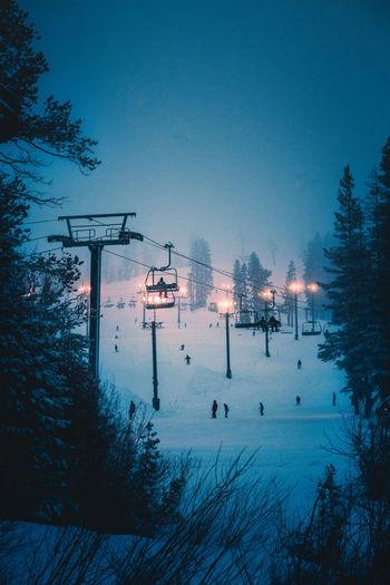 LIFT and LIGHT Ski Skilift Skiresort Moutian Resort Cold Temperature Snow Winter Blue Sky Foggy My Best Photo