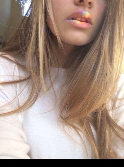 Rainbow Lips Girl Sweer First Eyeem Photo
