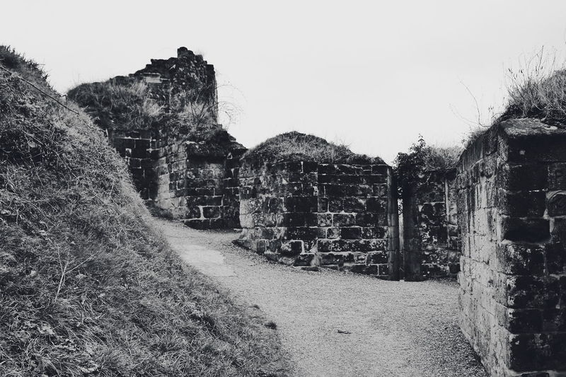 Valkenburg Castle Ruins series (My travel photo series last December to the Netherlands). Stones Historical Ancient Black And White Black And White Photography Old Ruin Ancient Civilization Ruins Build Structure Fence The Architect - 2018 EyeEm Awards