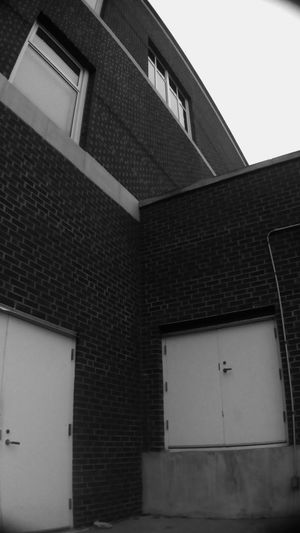 Building Exterior Architecture Brick Brick Wall Black & White Urban Photography