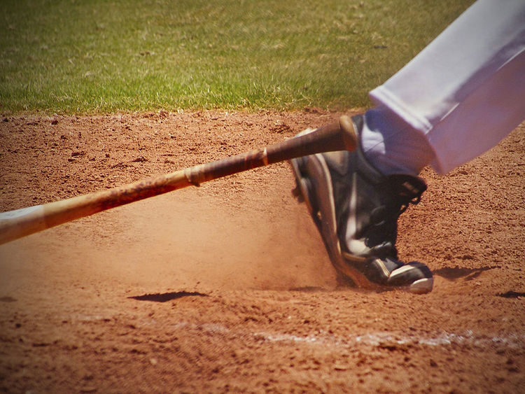 Baseball Game Running Baseball Bat Baseball Field Batter Eyeemsports Flying Dirt