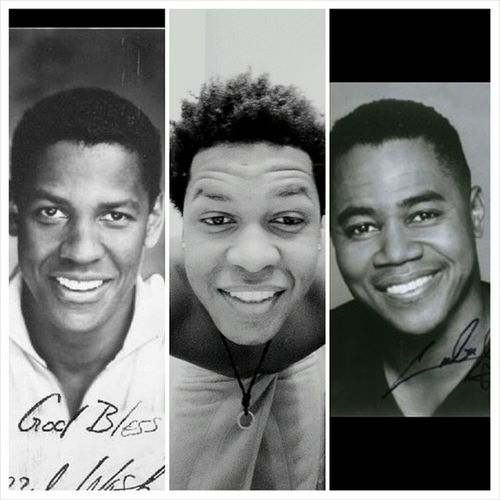 Supposedly I look like a young Denzel Washington or Cuba Gooding Jr. Some people say they see a little of both?. Celebritylookalike Celebrityfacemash
