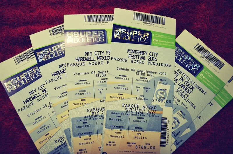 Hardwell Mexico Tour $439 MCF / Monterrey City Festival Day 1 , Deftones $ 769 Day 2 . Concert Tickets ` MonterreyCityFestival. Music Concert Tickets