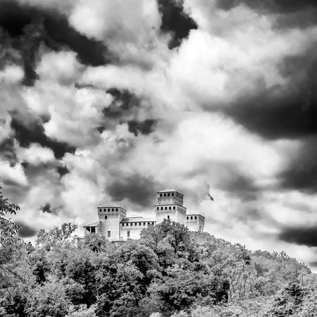 Torrechiara Castle Architecture Beauty In Nature Building Exterior Built Structure Cloud - Sky Day Growth Ladyhawke Ladyhawke Castle Low Angle View Mountain Nature No People Outdoors Sky Torrechiara Tree