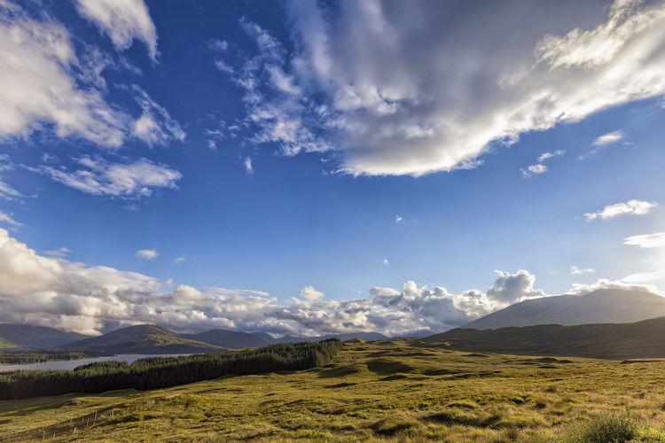 Loch Tula and Black Mount Black Mount Loch  Scotland Scottish Trossachs United Kingdom Bridge Of Orchy Clouds Countryside Highlands Lake Landscape Lanscape Loch Tulla Mount Mountain Nature No People Outdoors Scenics Scottish Highlands Sky Sunset Tulla Uk