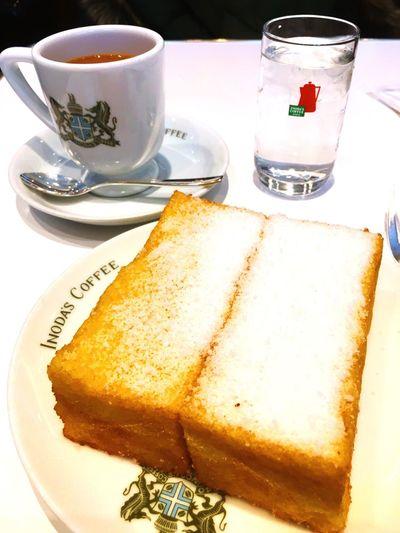 イノダコーヒー フレンチトースト Kyoto Kyotostation Jaran Food And Drink Food Table Bread Coffee Coffee And Sweets Local Specialty