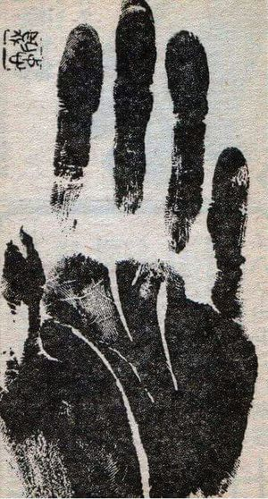 Handprint Black And White There Are Many Stories Behind This Handprint Cant Remember