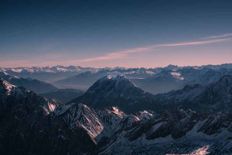 Or is this merely a question of perspective? Location: Bavarian Alps, Germany Equipment: Fujifilm X-T2 + XF18-55 Alpen Alps Bavaria Bavarian Alps Cloud - Sky Deutschland Evening Fuji Germany Landscape Light Magenta Mountain Mountain Peak Mountain Range Mountainscape Night Outdoors Peak Snow Sunset Travel Valley Warm Zugspitze The Great Outdoors - 2017 EyeEm Awards