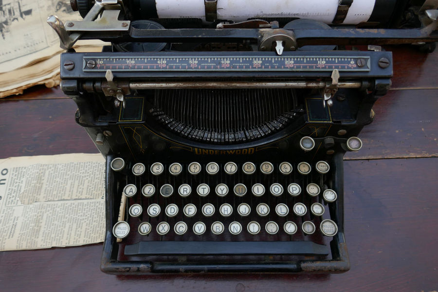 Close-up History Man Made Object No People Old Old-fashioned The Past Type Writer