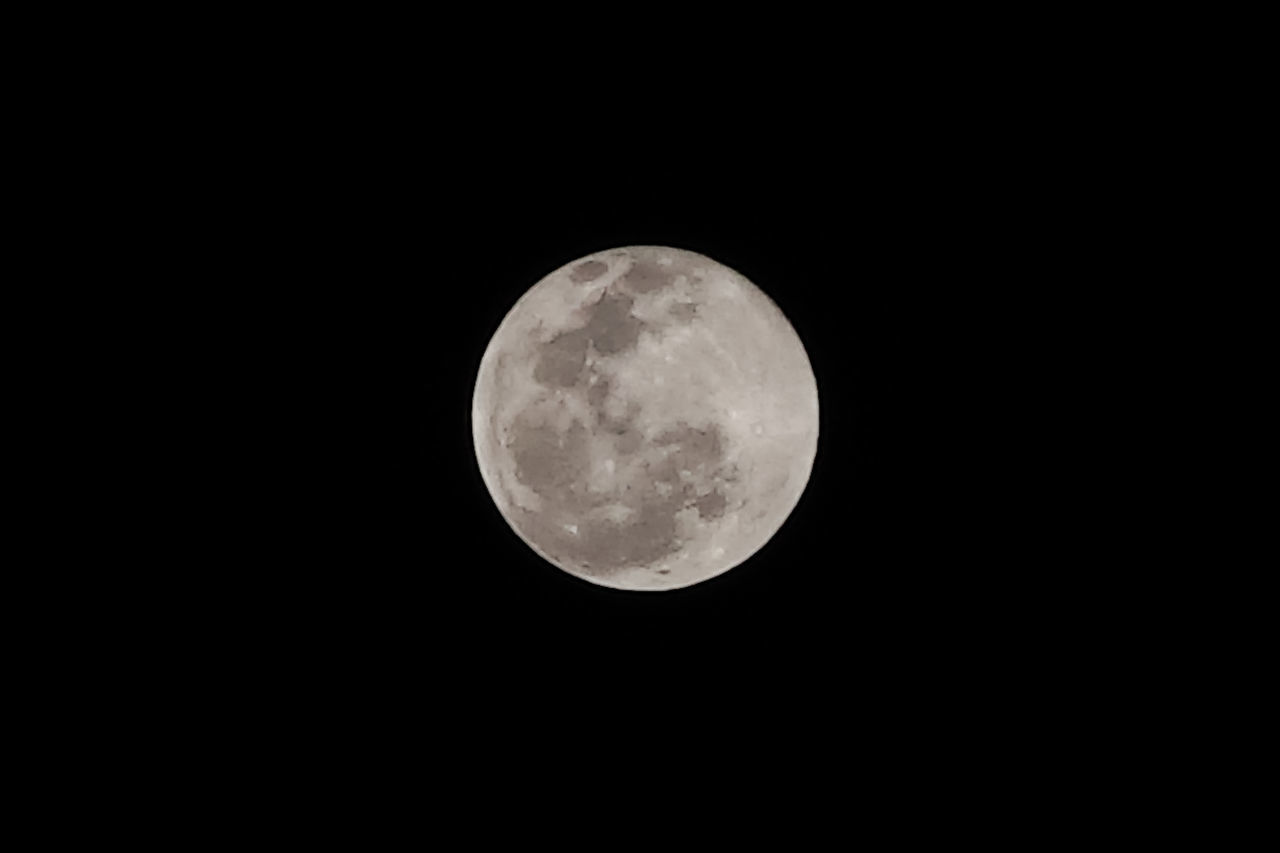LOW ANGLE VIEW OF FULL MOON AT NIGHT SKY