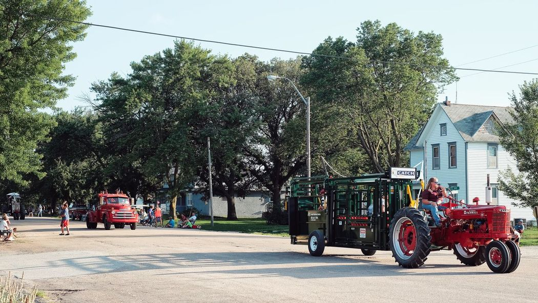 Parade 2016 Old Settlers Picnic Village of Western, Nebraska A Day In The Life Celebration Community Day Farmers Main Street USA Mode Of Transport Old Settlers Picnic Outdoors Parade Photo Essay Road Rural America Small Town Life Small Town USA Storytelling Tractor Western Nebraska