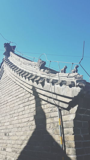 Bejing, China Great Wall Of China Eye Em Travel Travel Photography Built Structure Traveling In China Peking  Architecture Sunlight Outdoors Shadow Eye Em Photography