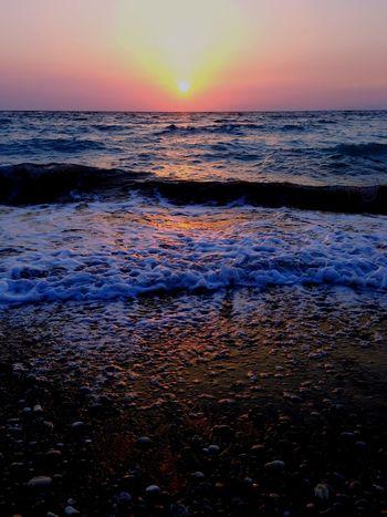 Beach Beachphotography Beautiful Waves Water Greece Rhodes Sungoesdown Sun Creative Light And Shadow