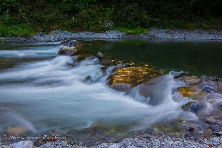 River Long Exposure On A Hike Scenic