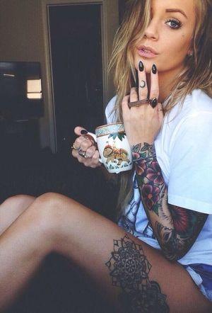 Hello World Taking Photos Girl Tattoo