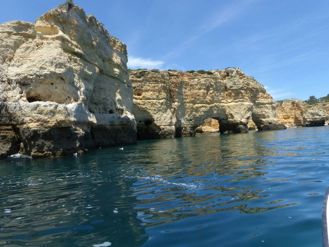 Beauty In Nature Boat Trip Caves Day Nature No People Outdoors Water Praia De Carvoeiro Carvoeiro