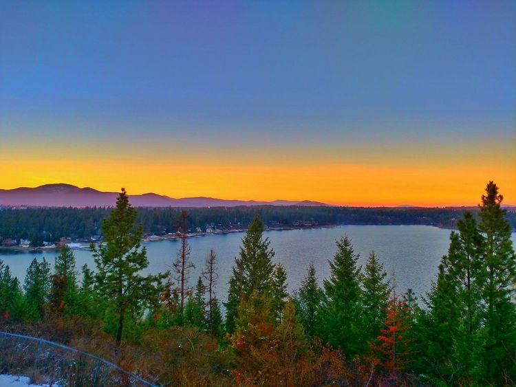 Dimming of the day... Sunset Thanksgiving JustIdaho Lake North Idaho Imagesspeaklouder