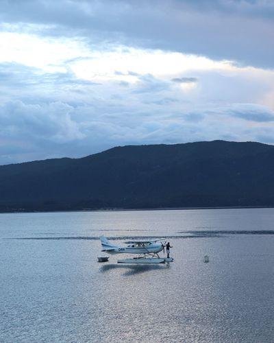 Te Anau Te Anau New Zealand EyeEmNewHere Hydroplane Water Mountain Lake Sky Landscape Cloud - Sky Foggy Calm