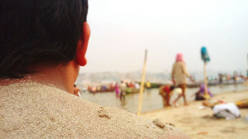 Eyeem Best Photos EyeEm Best Shots Sand Water Back PhonePhotography Ganga Sea