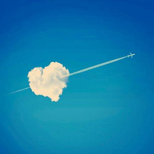-♡-> Plane Heart Liebe Herz Flugzeug Love