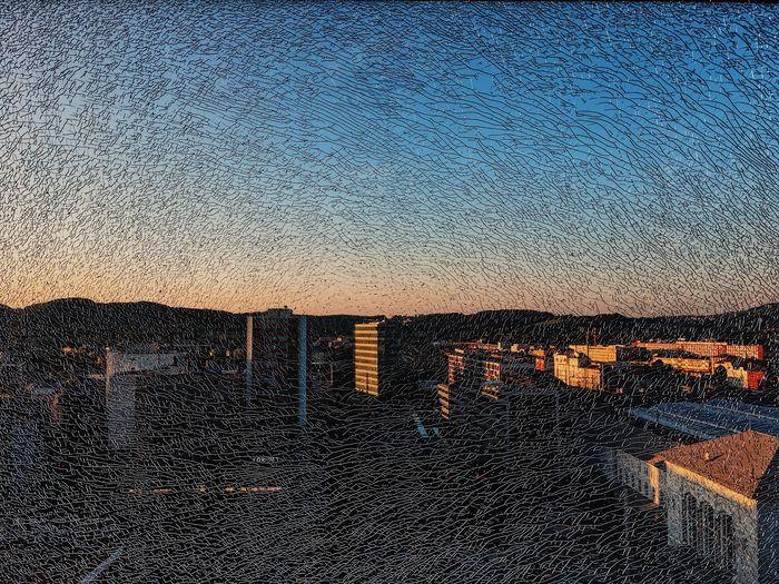 through broken glass IPhoneography Outdoors Night Architecture Illuminated Built Structure Sky Building Exterior Nature City Broke Glass Broken Glass Salzburg Sunset View Be. Ready. EyeEmNewHere EyeEm Best Shots EyeEm Nature Lover EyeEm Selects EyeEmBestPics EyeEm Best Edits Clear Sky IPhone