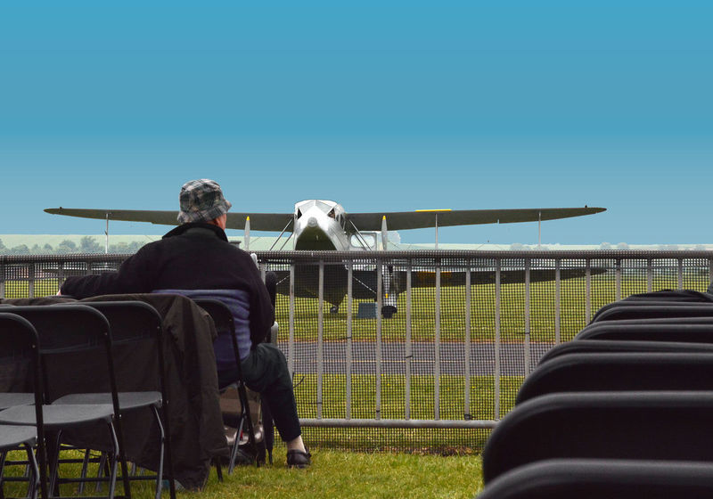 People Nature Real People Men Airplane Sky Rear View Day Outdoors Grass Clear Sky Adult Mammal Adults Only Full Length One Person One Man Only Duxford Imperial War Museum