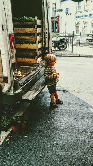 Girl standing on floor