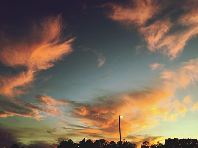Sunset Clouds And Sky Fluffy Clouds Watercolor Featheredbeauties