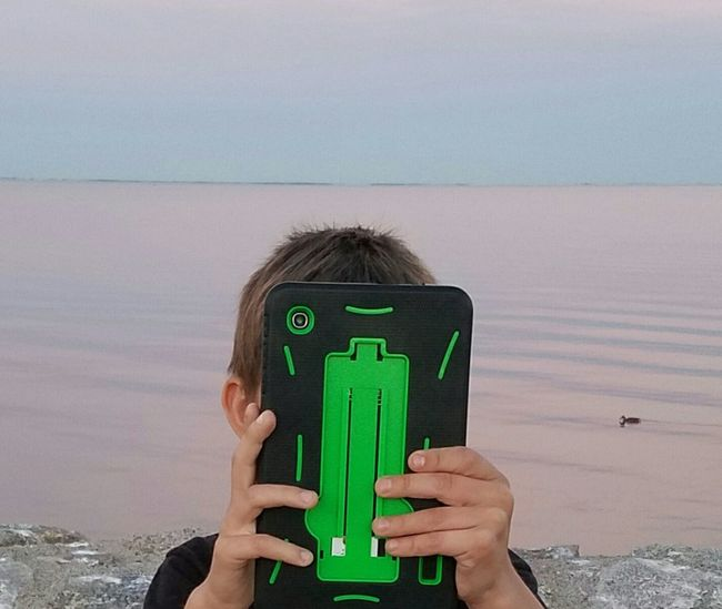 Electronic nature shot Selfie Evidence Lakefront Internet Addiction Put Down The Tablet Taking Photos Cheese! Check This Out Hello World That's Me The Color Of Technology