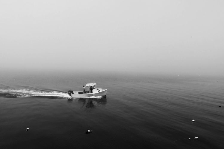 Black And White Friday Nautical Vessel Water Nature Real People Day Outdoors Scenics Sea Beauty In Nature Men Sailing Sky People
