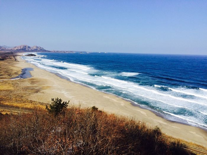 Winter Sea Winter Sea Wintersky Landscape Korea